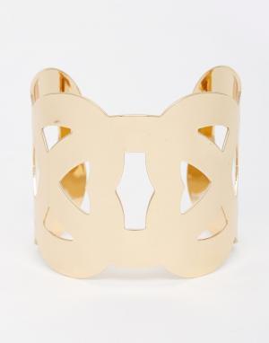 DesignB London Браслет-манжета. Цвет: золотой