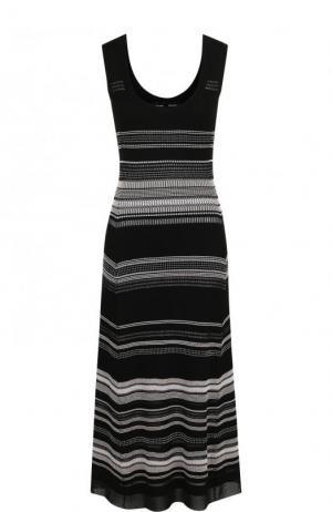 Вязаное платье-миди без рукавов Proenza Schouler. Цвет: черный