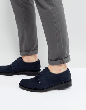 Dead Vintage Темно-синие туфли дерби. Цвет: синий