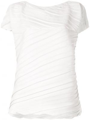 Плиссированная футболка Issey Miyake. Цвет: серый