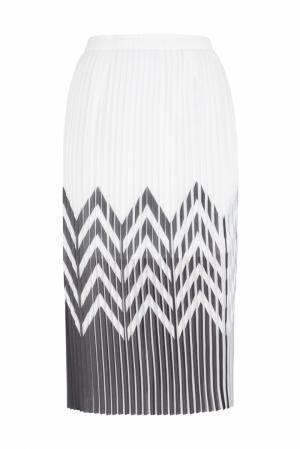 Плиссированная юбка Tilt Graphic Designers Remix. Цвет: белый,черный