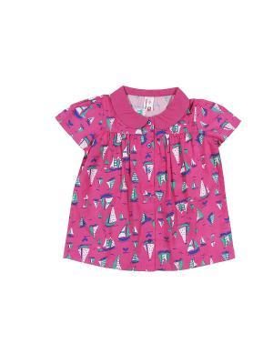 Блузка для девочки Cherubino. Цвет: розовый