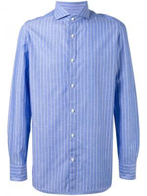 Рубашка в полоску Borrelli. Цвет: синий