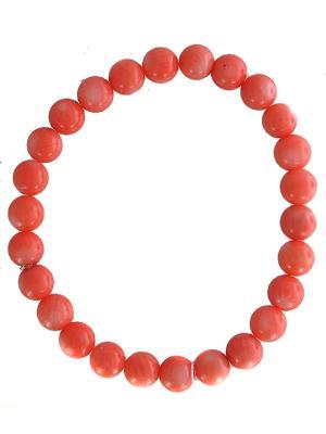 Браслет ЭСТЕТ. Цвет: красный, коралловый, оранжевый