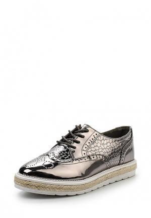 Ботинки WS Shoes. Цвет: серебряный
