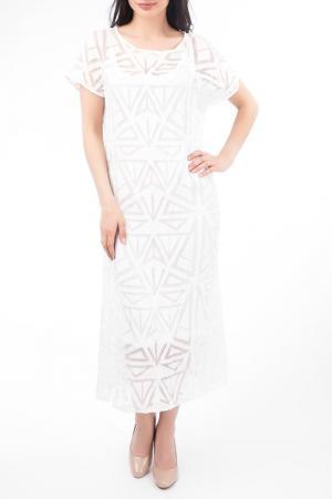 Платье EUROPEAN CULTURE. Цвет: белый