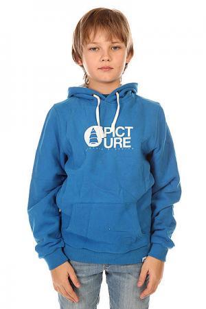 Толстовка кенгуру детская  Basement Hood Blue Picture Organic. Цвет: синий
