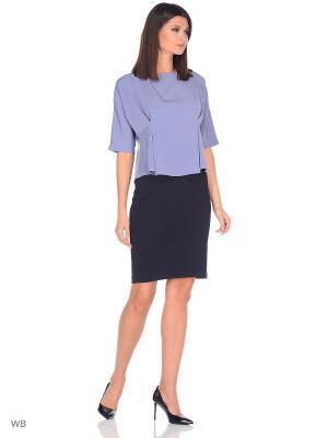 Блузка FLEURETTA. Цвет: серо-голубой