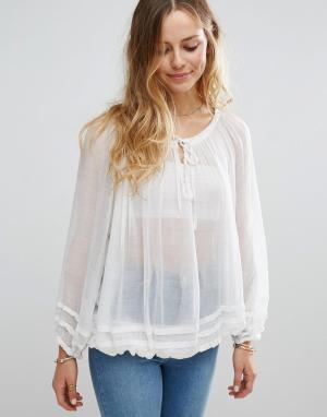 Raga Прозрачная блузка Summer Fling. Цвет: белый