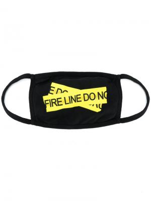Firetape mask Off-White. Цвет: чёрный