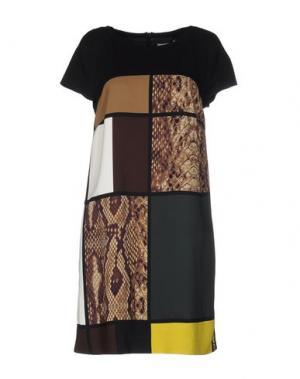 Короткое платье ANGELO MARANI. Цвет: какао