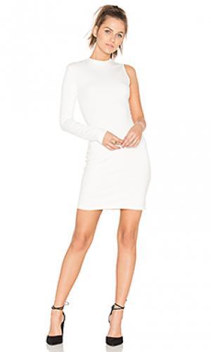 Stretch one sleeve dress twenty. Цвет: белый