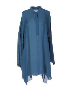 Короткое платье N_8. Цвет: пастельно-синий