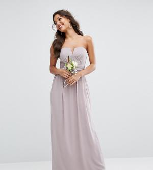 TFNC Платье-бандо макси WEDDING. Цвет: серый