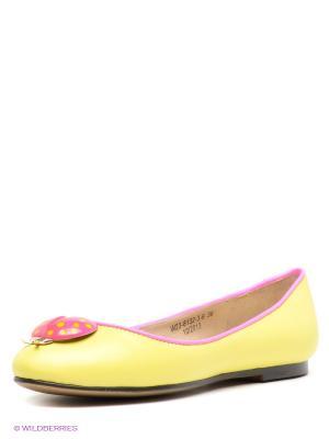 Балетки El Tempo. Цвет: светло-желтый