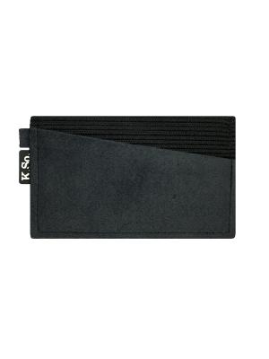 Мини кошелек кардхолдер K.So.A-Six K.So.. Цвет: серый, черный