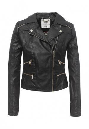 Куртка кожаная Alcott. Цвет: черный