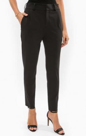 Черные зауженные брюки DRYKORN. Цвет: черный