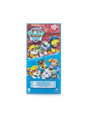 Игра Spin Master набор из 2 голографическиз пазлов Щенячий Патруль. Цвет: синий, желтый