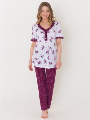 Пижама Лори. Цвет: бордовый