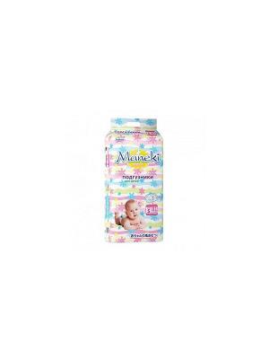 Подгузники детские одноразовые, размер S, 4-8 кг, 81 шт./упак Maneki. Цвет: белый