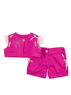 Костюм (жакет и шорты) babyAngel. Цвет: фуксия