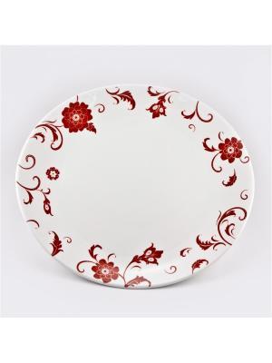 Н-р 6 тарелок подстановочных 27см Амата Красный Royal Porcelain. Цвет: молочный