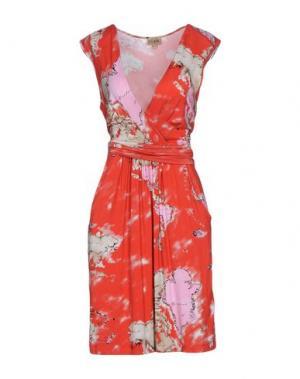 Платье до колена ALVIERO MARTINI 1a CLASSE. Цвет: красный