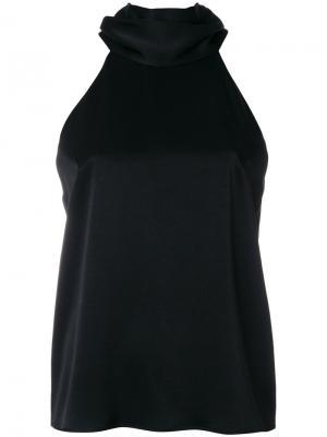 Блузка без рукавов Galvan. Цвет: чёрный