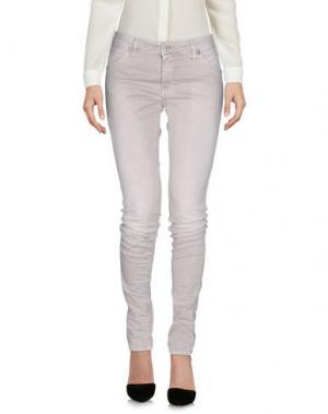 Повседневные брюки PLEASE. Цвет: светло-серый