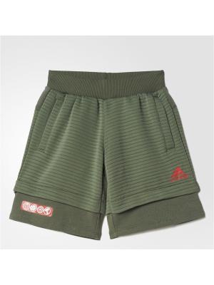 Трикотажные шорты Adidas. Цвет: хаки