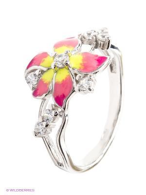 Кольцо SOKOLOV. Цвет: серебристый, розовый