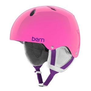 Шлем для сноуборда детский  Team Diabla Translucent Pink/White Cordova Earlaps Bern. Цвет: розовый,мультиколор
