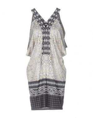 Короткое платье HALE BOB. Цвет: светло-серый