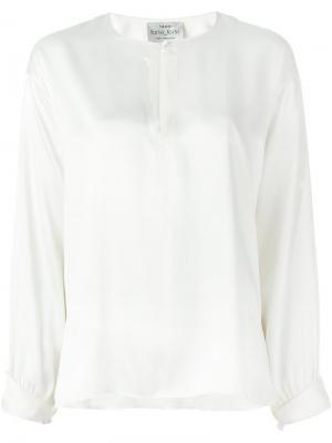 Блузка с вырезом замочная скважина Forte. Цвет: телесный