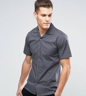 Only & Sons Приталенная рубашка с короткими рукавами и воротником в виде лацканов. Цвет: серый