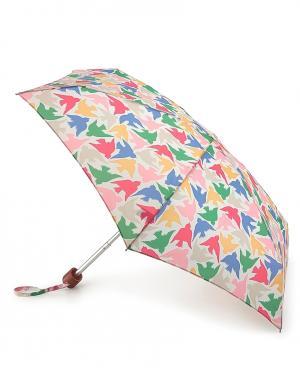 Зонт механический Графические птицы  by Fulton Cath Kidston. Цвет: белый