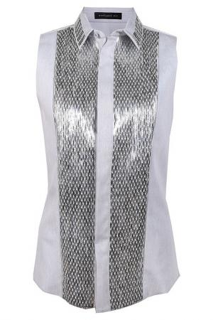 Блузка Barbara Bui. Цвет: серебряный