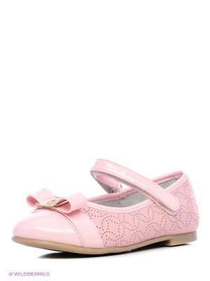 Балетки Зебра. Цвет: розовый