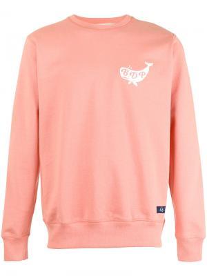 Толстовка с логотипом Bleu De Paname. Цвет: розовый и фиолетовый