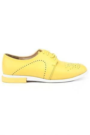 Туфли DERI&MOD. Цвет: желтый