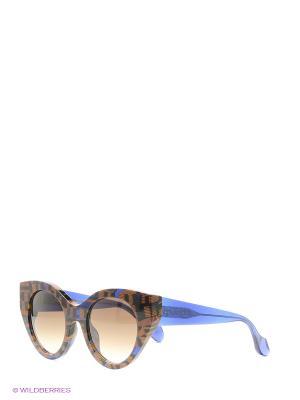 Солнцезащитные очки FENDI. Цвет: черный, синий