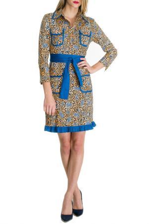 Платье Almatrichi. Цвет: yellow and blue