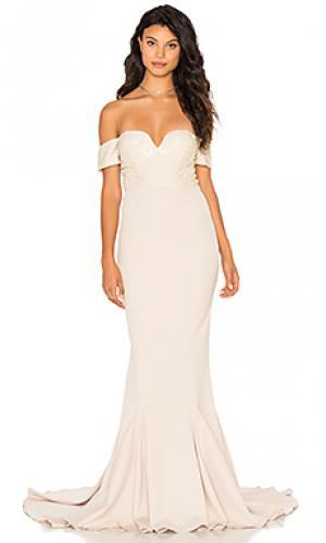 Вечернее платье annabella Elle Zeitoune. Цвет: беж