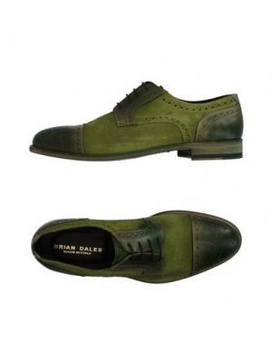 Обувь на шнурках BRIAN DALES. Цвет: зеленый