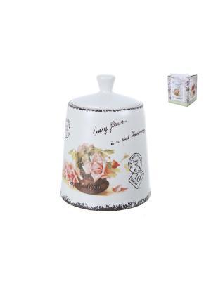 Банка для сыпучих продуктов Чайная роза, ENS GROUP. Цвет: розовый
