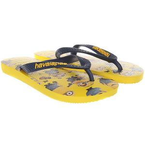 Вьетнамки  Minions Real Yellow Havaianas. Цвет: желтый,мультиколор