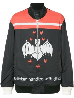 Куртка-бомбер с летучей мышью Undercover. Цвет: чёрный