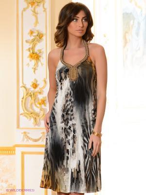 Платье Elegance. Цвет: белый, желтый