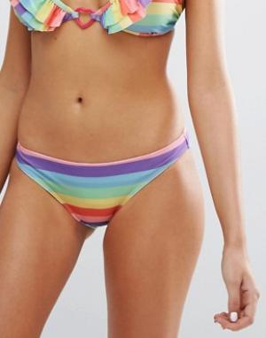 Lazy Oaf Разноцветные плавки бикини. Цвет: мульти